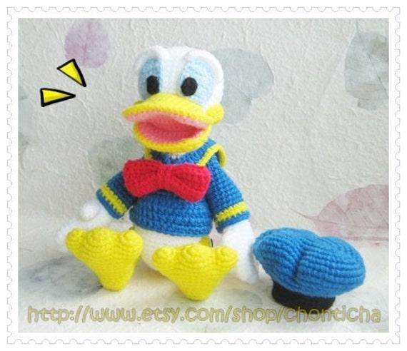 Amigurumi Donald Duck : Donald Duck 8.5 inches - PDF amigurumi crochet pattern ...
