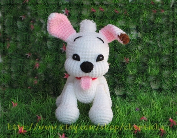 Little BOLT doggy 6 inches - PDF crochet pattern
