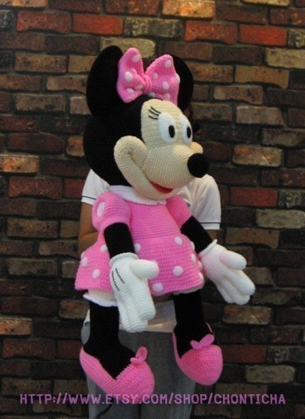 Minnie Mouse 35 inches PDF amigurumi crochet pattern ...