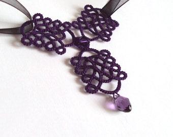 Purple Gothic Necklace - Rhiannon