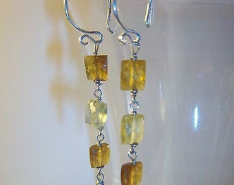 LIQUIDATION SALE ----  Sterling Silver Grossular Garnet Earrings