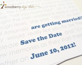 Wedding SAVE THE DATE cards - Proposal Story Cards by Woodberry Design Studio on Etsy