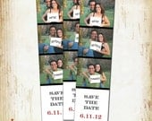 Wedding SAVE THE DATE cards - Photo Strip - by Woodberry Design Studio on Etsy