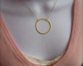 XL Eternity Circle Gold Pendant
