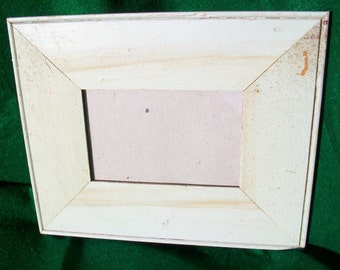 Old New York Architectural Salvaged Wood Shabby Picture Frame Recycled Chic S5790