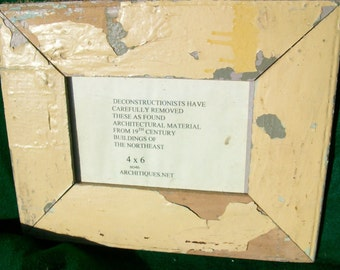 New York Architectural SALVAGE Shabby Wood Picture Frame RECLAIMED CHIC OLD S5840
