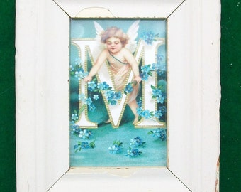 Old New York Architectural Salvaged Wood Shabby Picture Frame Recycled Chic S6323