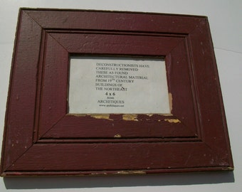 4 X 6 Picture Frame Made from Reclaimed Antique Wood