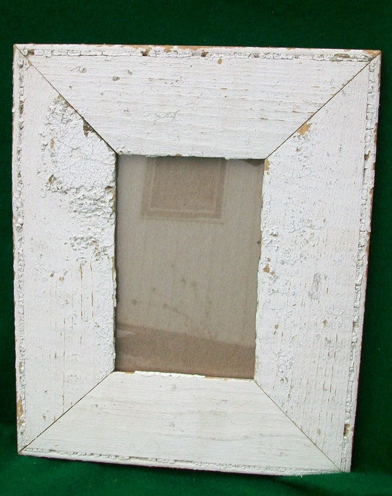 Old New York Architectural Salvaged Wood Shabby Picture Frame