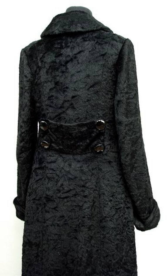 1912 Titanic era black mohair coat