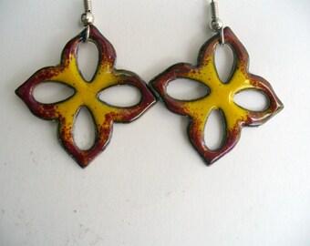 Teardrop Flower Earrings