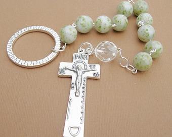 Flower Petal Irish Penal Rosary/ Wedding and Funeral Bead Keepsake