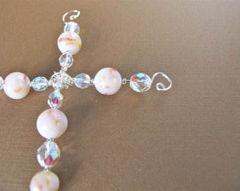 Flower Petal Cross Ornament/ Religious/ Custom Made From Your Flowers/ Memorial