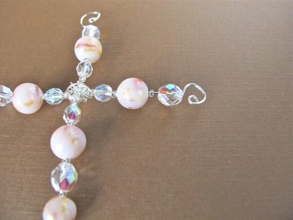 Flower Petal Cross Ornament/ Religious/ Custom Made From Your Flowers/ Memorial
