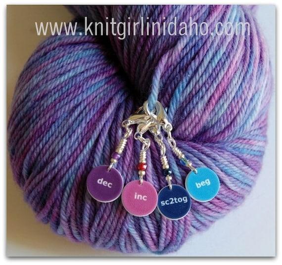 Removable Mini Crochet Stitch Markers (Set of 4)