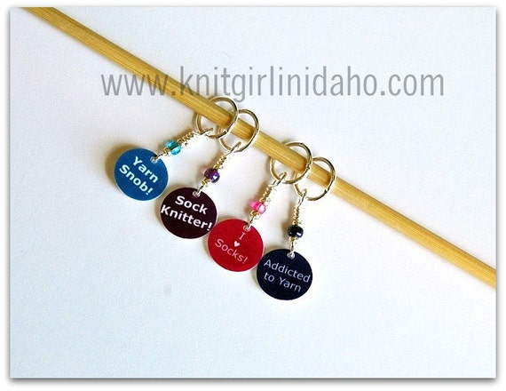 Stitch Markers: Mini Sock Charms (Set of 4)
