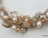 Custom Crochet necklace (SOLD)