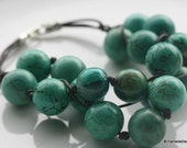 Tropical Beach turquoise dyed Howlite Bracelet