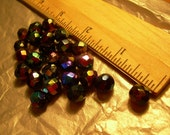 25 Piece Vintage Blue Iris AB W.German Faceted Glass beads (on sale now)