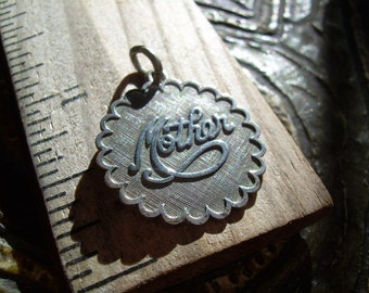 Vintage Beau Sterling Mother charm or Pendant hallmarked and stamped on charm and Bale great Mothers day gift