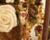 Autumn Splendor  - 18 inch crocheted wire / bead necklace