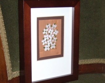 On The Windowsill - framed original ACEO