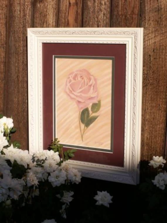 Pastel Rose - original framed pastel art