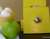 Mid Century Modern Lemon Yellow Towel House -- for Eco Friendly Unpaper Towels