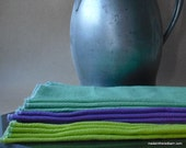 Napkins / Unpaper Towels  -  Set of 12, Hand Dyed - Evening at the Beach