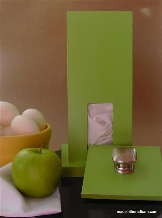 Mid Century Modern Green Apple Towel House for Eco Friendly Unpaper Towels