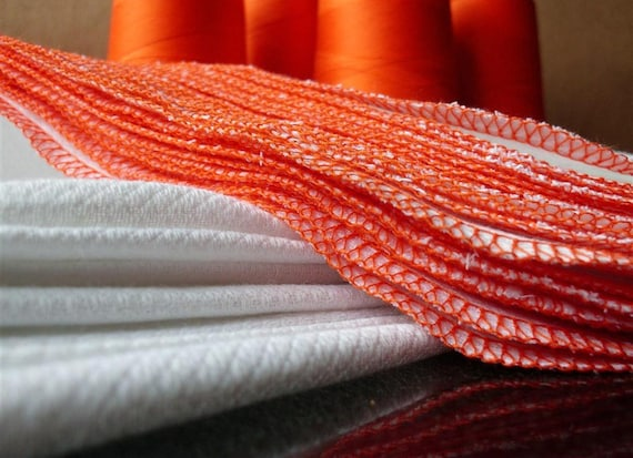 Unpaper Towels with Orange Edges - Set of 12