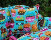 Reserved Boutique Shopping Cart Cover -Turquoise Sweet Treat