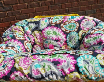 TWIN Shopping Cart Cover Boutique (Roco Beat Paisley), Restaurant High Chair Cover, Park Swing Cover, Grocery Cart Cover