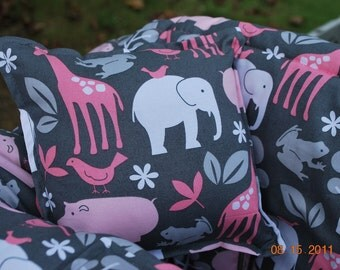 Custom Boutique TWIN (Bloom Zoology) Shopping Cart Cover -comes with a pillow and a safety belt