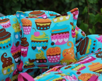 TWIN Boutique Shopping Cart Cover -Turquoise Sweet Treat