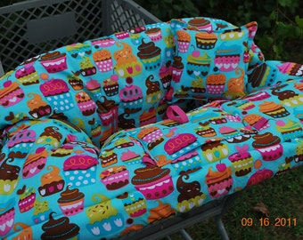 Boutique Shopping Cart Cover -Turquoise Sweet Treat