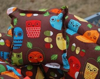 Boutique Shopping Cart Cover-Retro OWL for a Girl or Boy