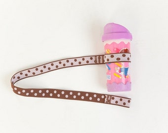 Custom Boutique (Pink and Brown) Sippy Cup Leash