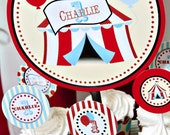 Circus Carnival Big Top PRINTABLE Smash Cake Topper - By A Blissful Nest