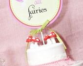 GARDEN FAIRY Party Collection- Printable Smash Cake Topper- A Blissful Nest