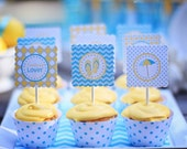 Pool Party - Cupcake Toppers Party Circles - PRINTABLE - By A Blissful Nest - As Seen On Amy Atlas