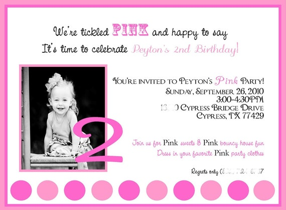 DIY PRINTABLE Pinkalicious/Pink Party Invitations