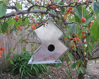 Zigzag Bird House Metal Birdhouse galvanized sheet metal