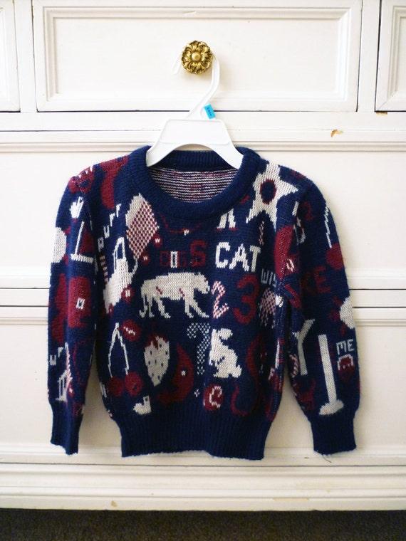 Vintage Random Pullover, Size 3T/4T