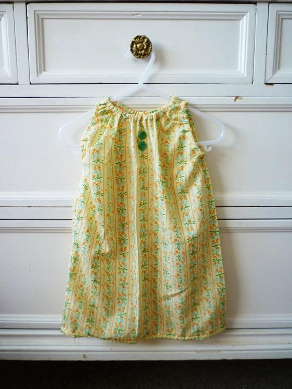 Vintage Summer Dress, Size 12-24 Months