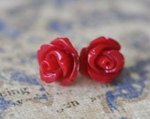 Mini French Lace, Flower Posts - Exotic Red