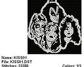 Kiss Band Embroidery Designs