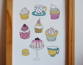 poster CUPCAKES - for kitchen, living or kids room