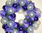 Wild Violets Christmas Holiday 18 inch Wreath