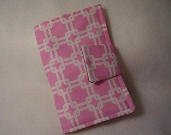 Pink Geometric Mini List Maker, Organizer, Notebook, Notepad, Planner, Coupon Holder